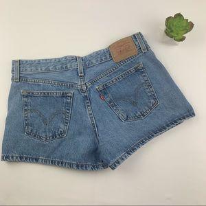 Levi's Vintage Cheeky Jean Shorts Medium Wash 9 JR
